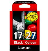 Lexmark Combo Pack #17, #27 Nero, Ciano, Verde, Giallo cartuccia d