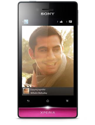 Sony Xperia miro SIM singola 4GB Nero, Rosa