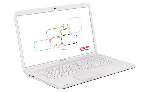 "Toshiba Satellite C875-13J 2.4GHz i3-2370M 17.3"" 1600 x 900Pixel Bianco"