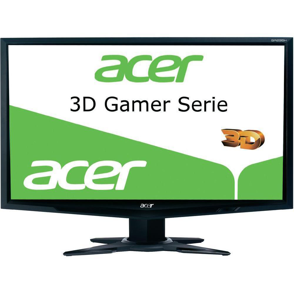 "Acer 3D GR235Hbmii 23"" Full HD Compatibilità 3D Nero monitor piatto per PC"