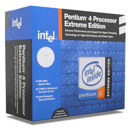 Intel Pentium® 4 Processor Extreme Edition supporting HT Technology 3.40 GHz, 2M Cache, 800 MHz FSB 3.4GHz 2MB L2 processore