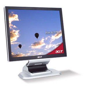 "Acer AL1751As 17"" LCD analog TCO99 8ms 17"" monitor piatto per PC"