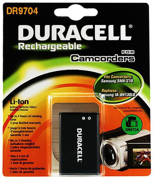 Duracell DR9704 Ioni di Litio 1150mAh 3.7V batteria ricaricabile