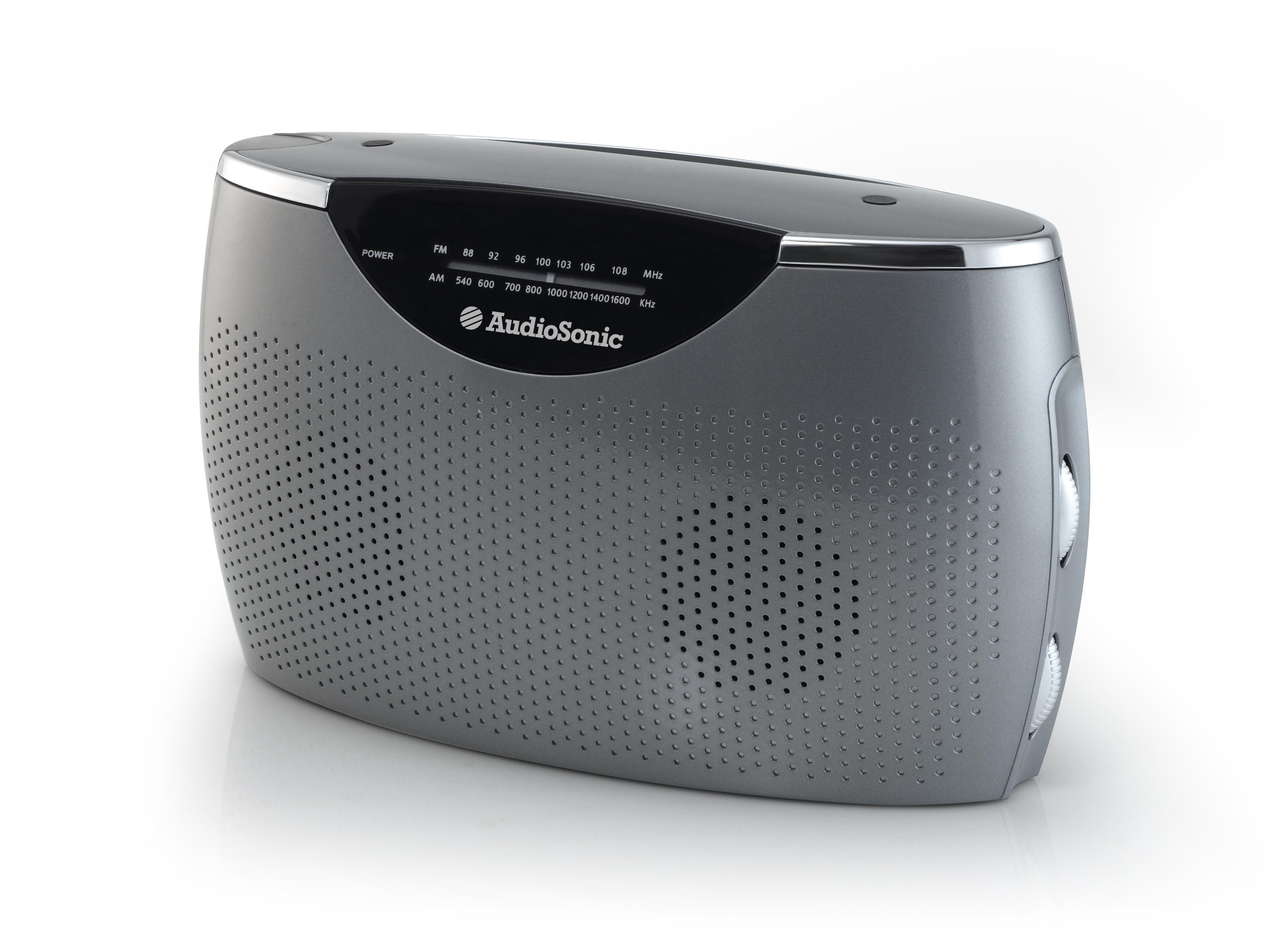 AudioSonic RD-1545 Portatile Analogico Grigio, Argento radio