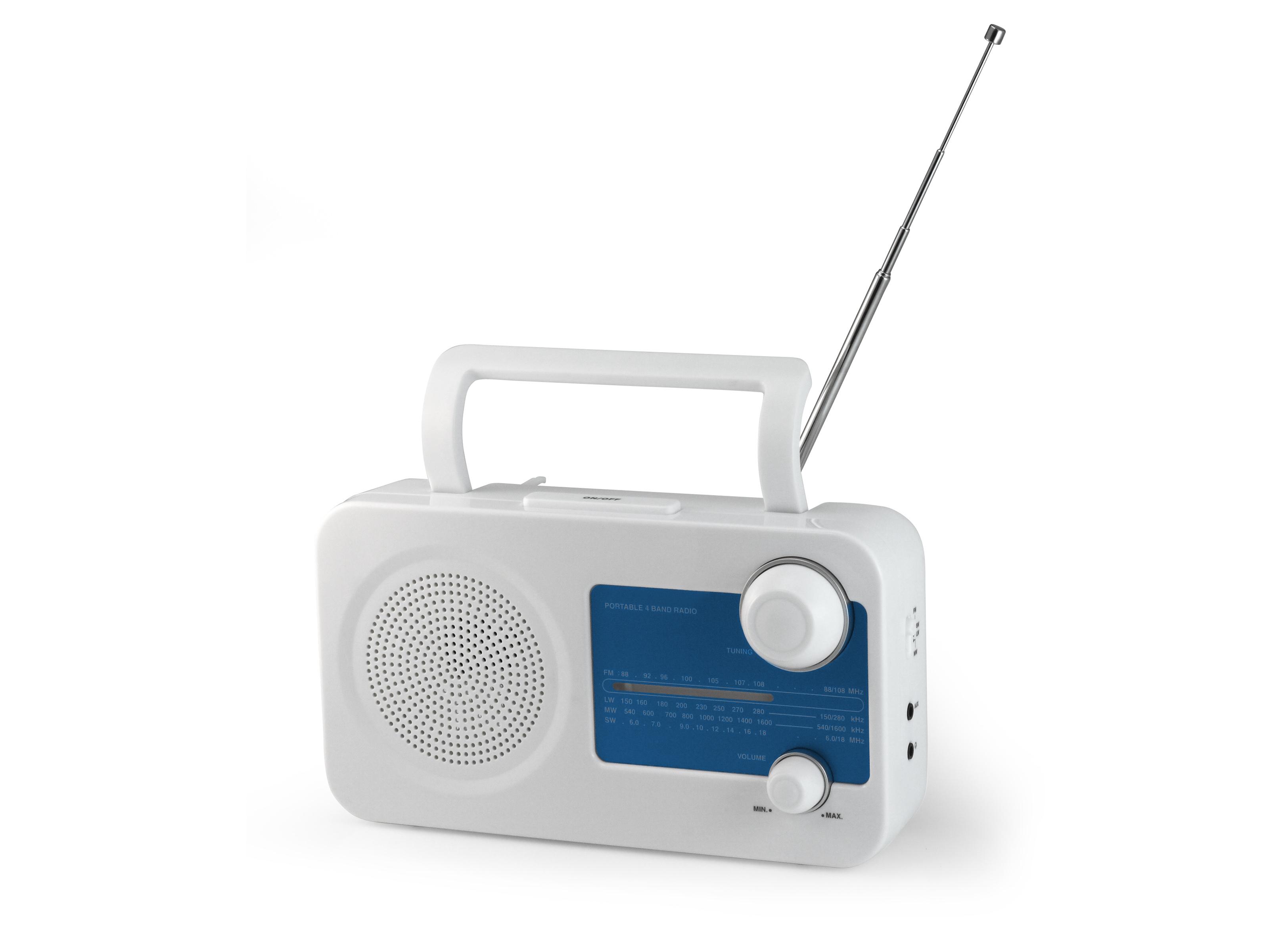 AudioSonic RD-1547 Portatile Blu, Bianco radio