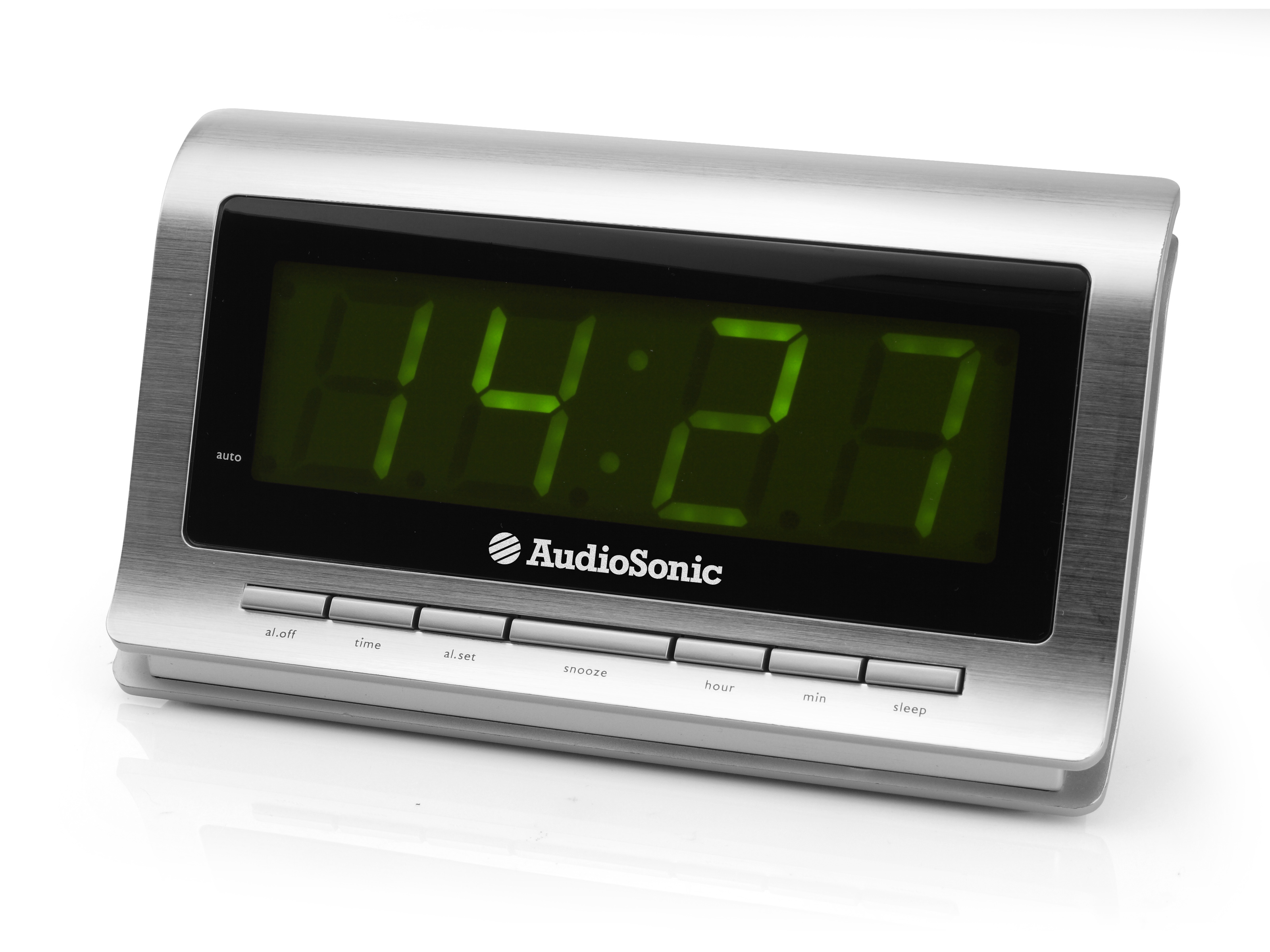 AudioSonic CL-1472 Orologio Argento radio