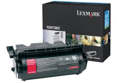 Lexmark 12A7360 5000pagine Nero cartuccia toner e laser
