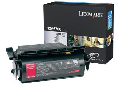 Lexmark 12A6760 Laser cartridge 10000pagine Nero cartuccia toner e laser