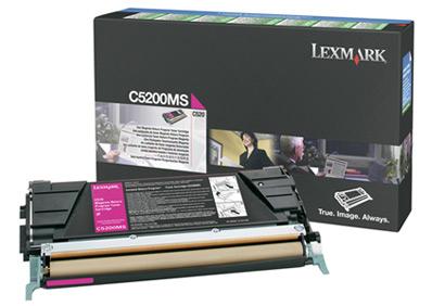 Lexmark C5200MS Laser cartridge 1500pagine magenta cartuccia toner e laser