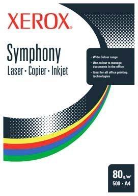 Xerox Symphony 80 A4 Mid Blue Paper CW Blu carta inkjet