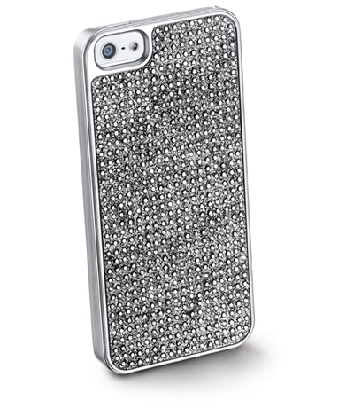 Cellularline Bling for iPhone 5 Cover Argento