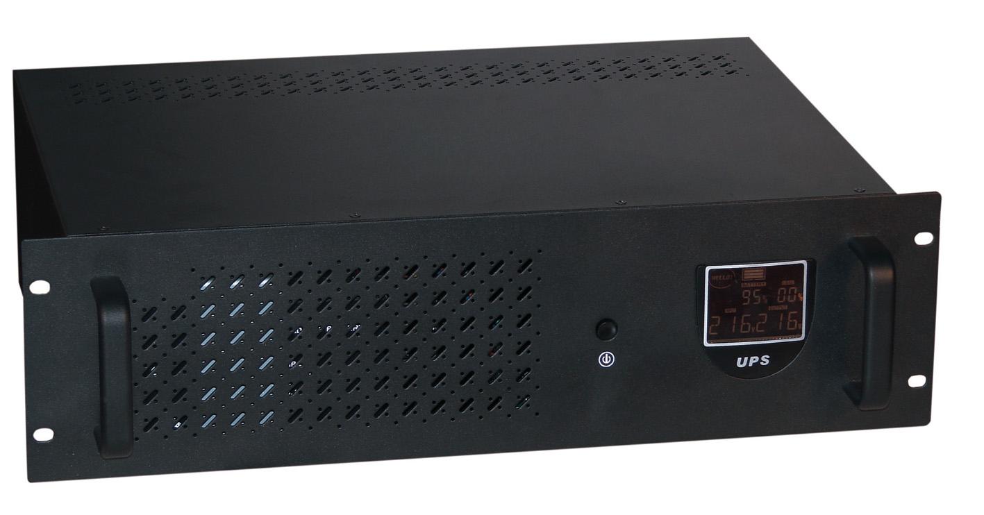 Eminent UPS 1600VA Rack 1600VA Nero gruppo di continuità (UPS)