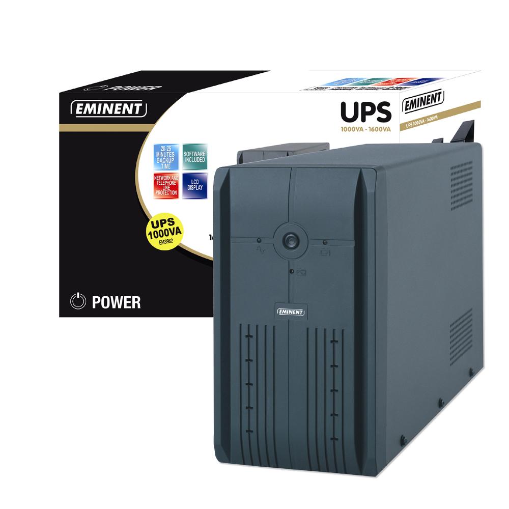 Eminent UPS 1000VA 1000VA Grigio gruppo di continuità (UPS)