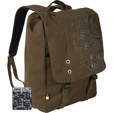 "Case Logic Canvas backpack 15.4"" 15.4"" Zaino Verde"