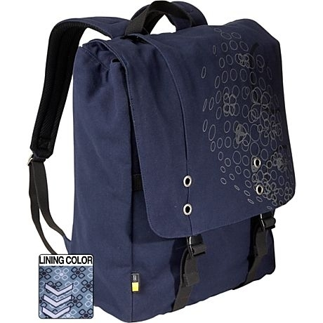"Case Logic Canvas backpack 15.4"" 15.4"" Zaino Blu"