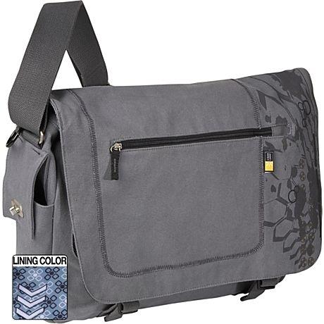 "Case Logic Canvas Messenger Bag 15.4"" Grijs 15.4"" Borsa da corriere Grigio"