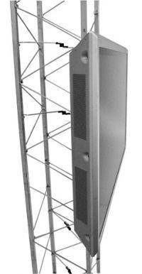 Chief Flat Panel Fixed Truss & Pole Mount Nero supporto a soffitto per tv a schermo piatto