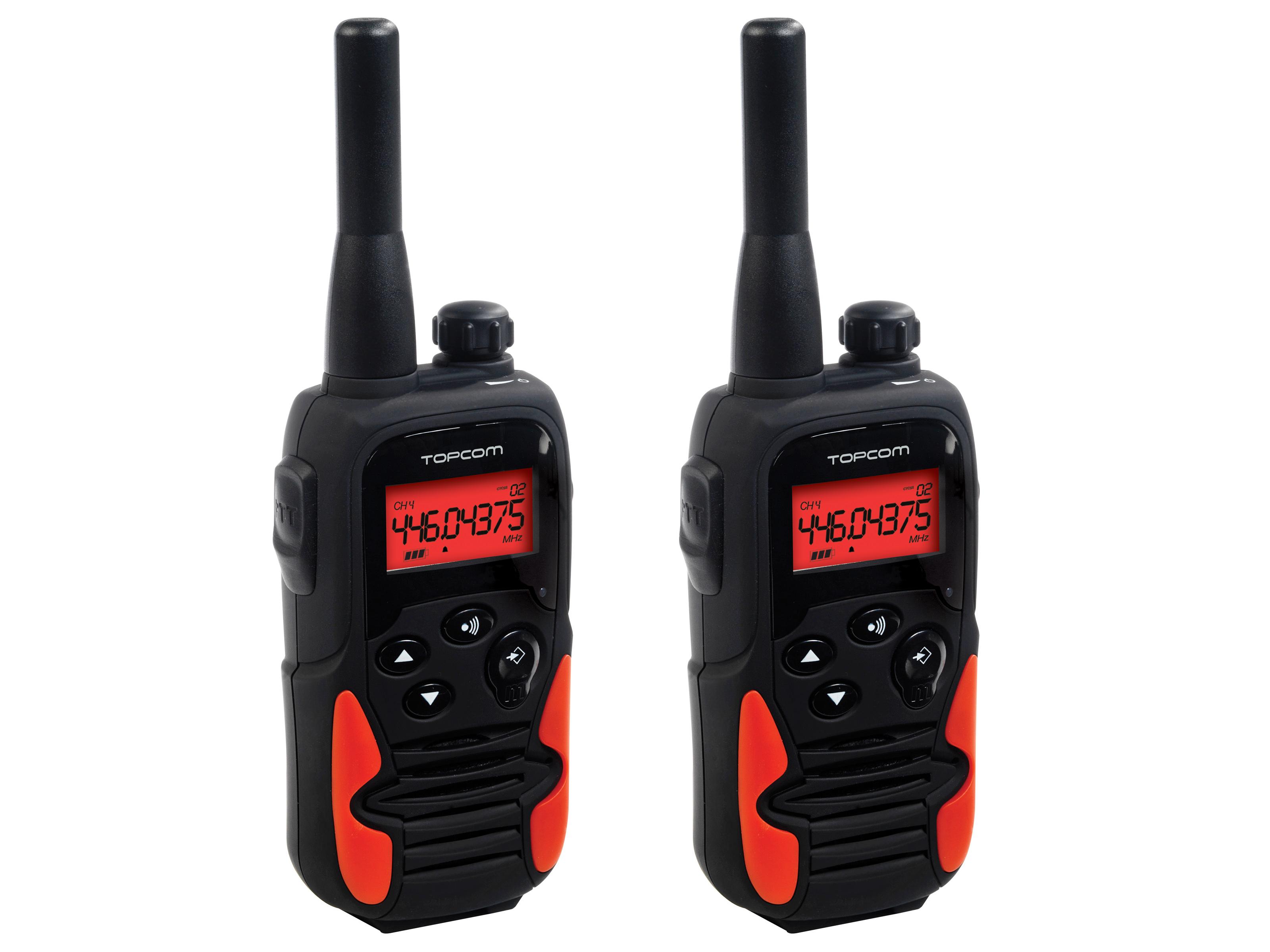 Topcom Twintalker 9500 8canali 446MHz Nero, Rosso ricetrasmittente