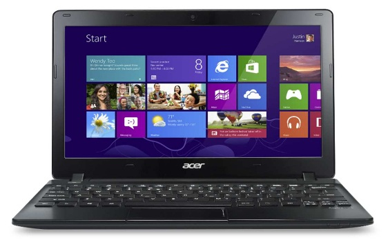 "Acer Aspire 121-C74G32nkk 1.3GHz C-70 11.6"" 1366 x 768Pixel Nero Computer portatile"