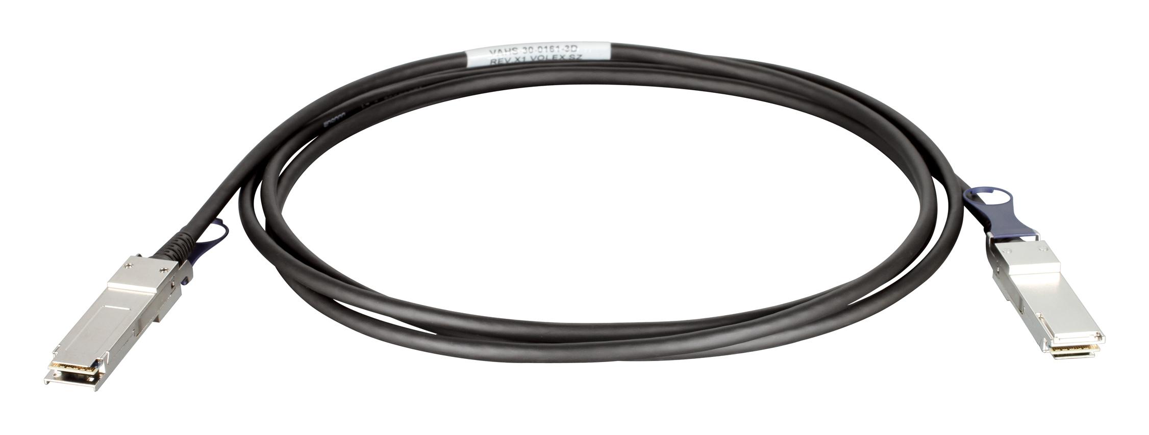 D-Link QSFP+, 3m 3m QSFP+ QSFP+ Nero cavo InfiniBand