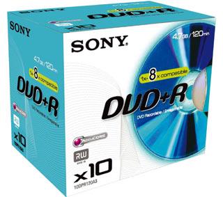Sony 10DPR120A 4.7GB DVD vergine