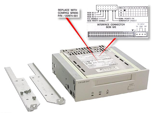 HP 4/8GB DAT Drive Interno DAT 4GB lettore di cassetta
