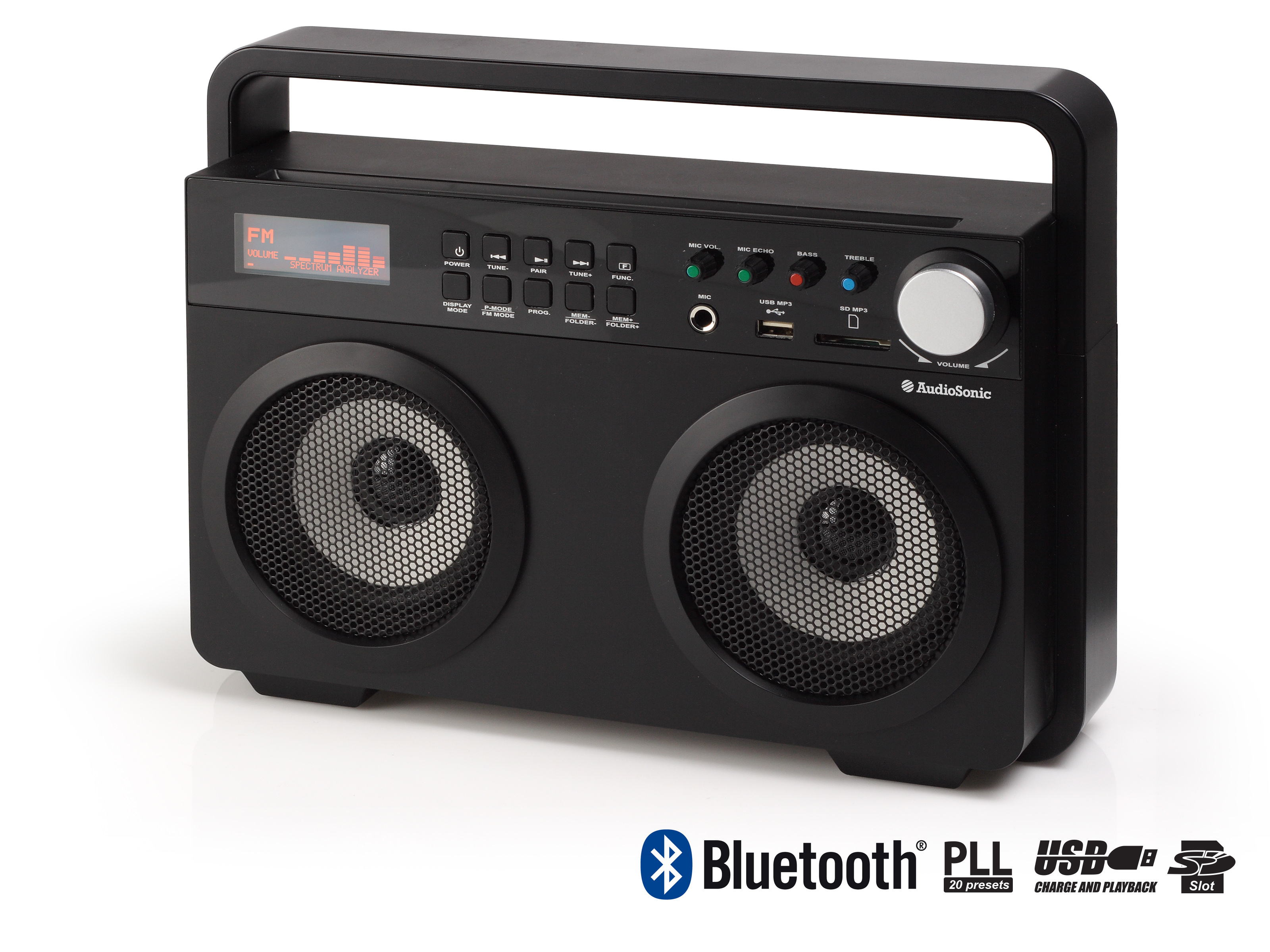 AudioSonic RD-1557 Portatile Nero radio