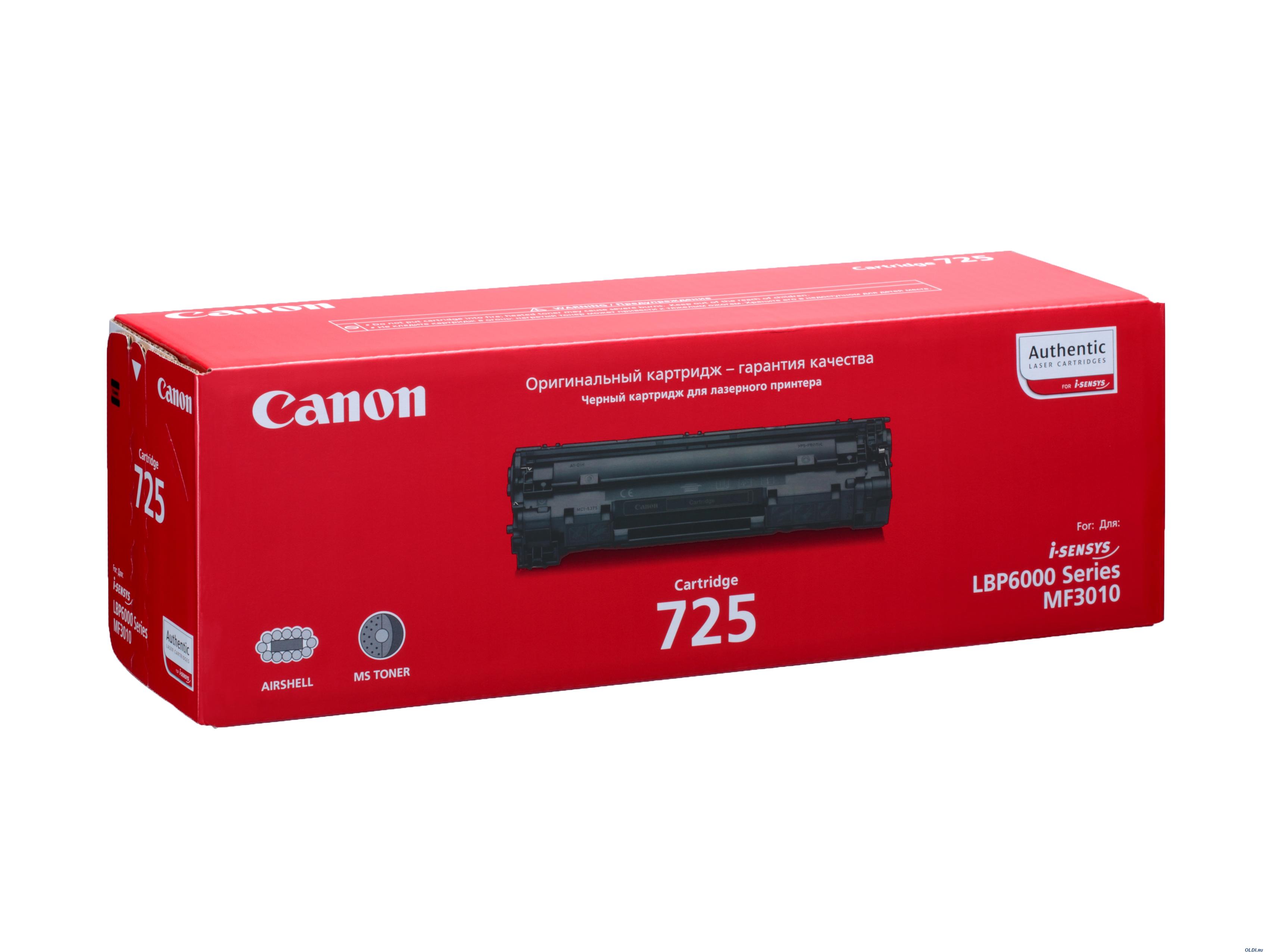 Canon 725 Cartuccia 1600pagine Nero