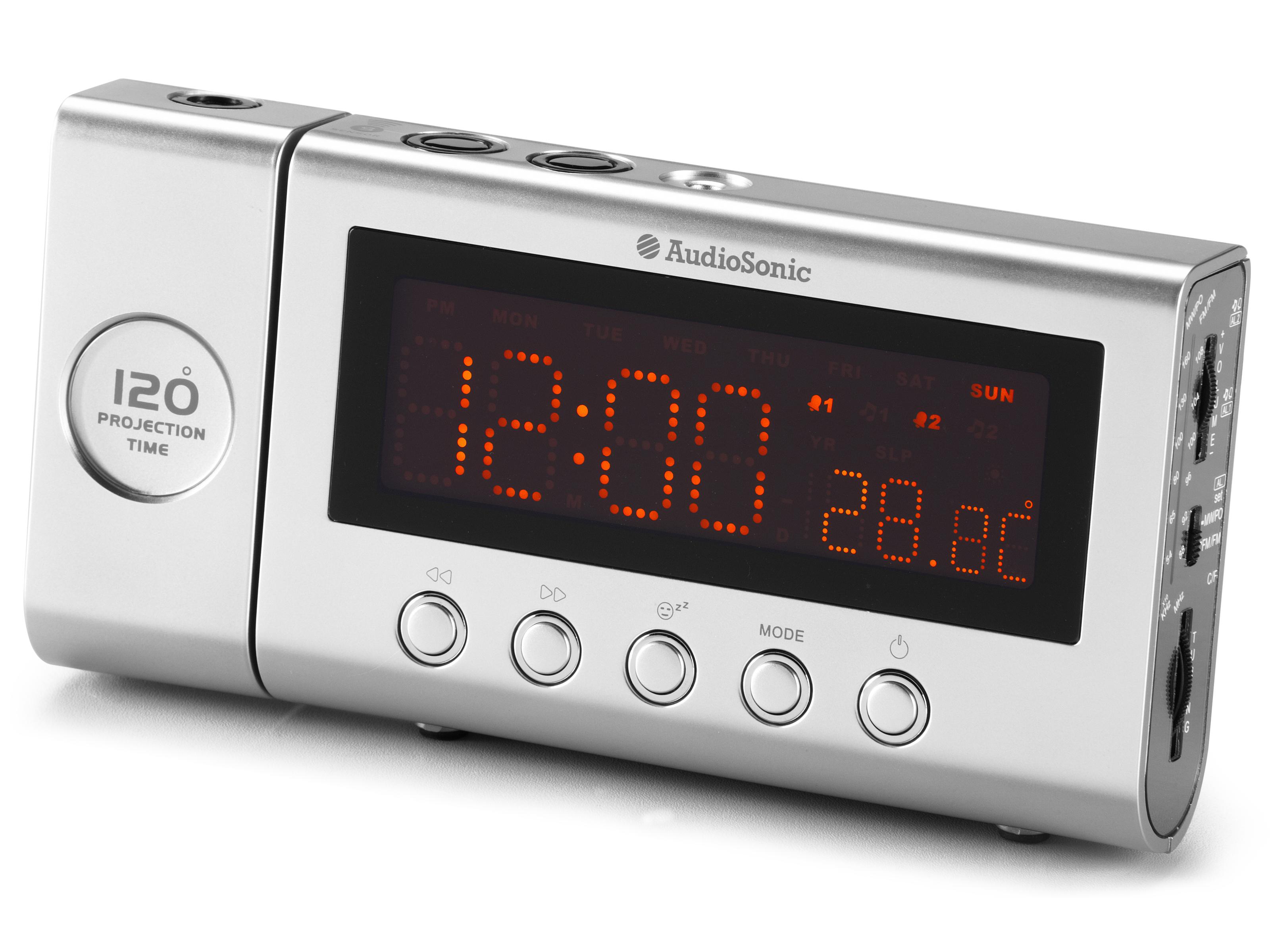 AudioSonic CL 471 Orologio Analogico Argento radio