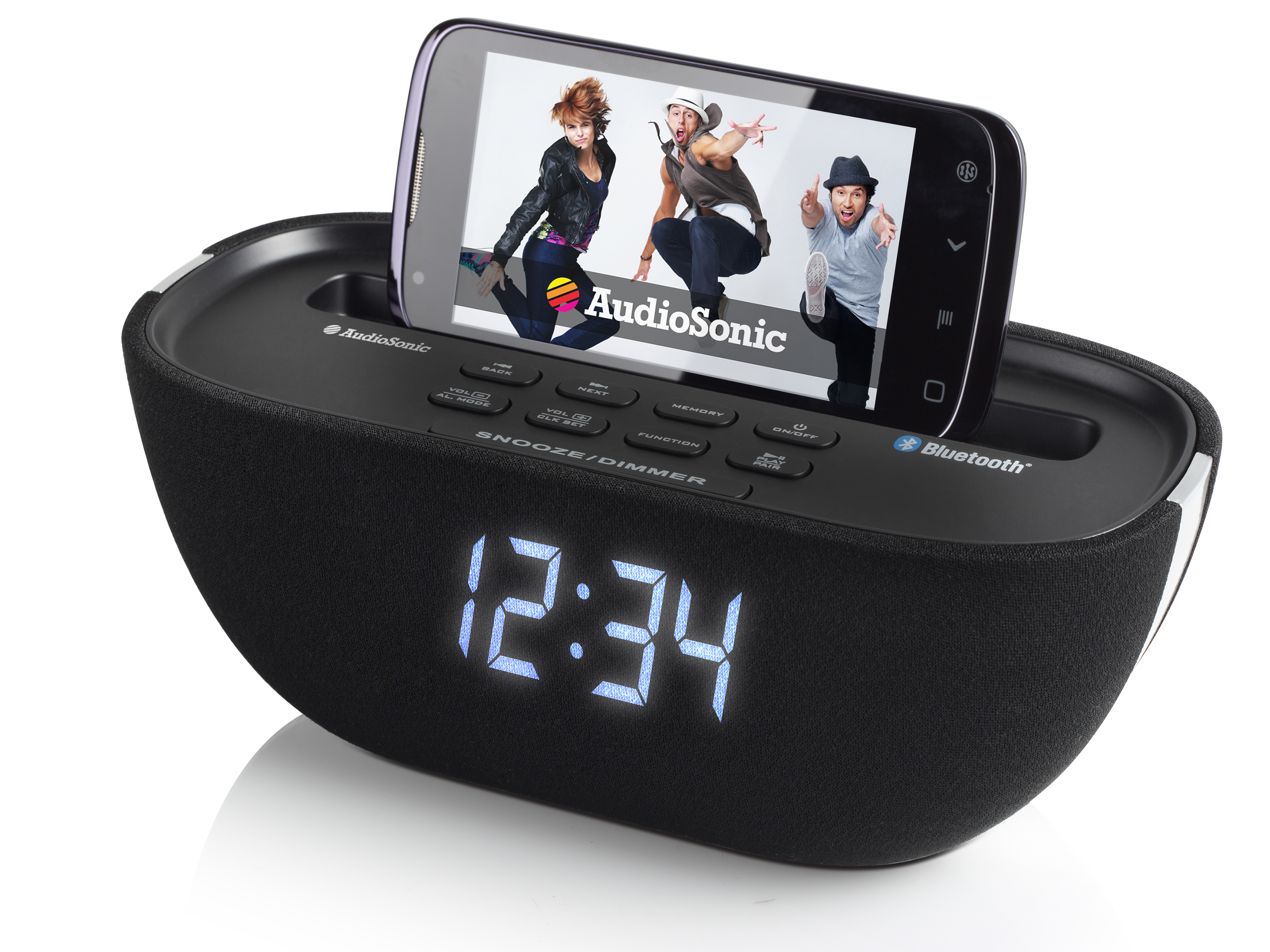 AudioSonic CL-1462 Orologio Digitale Nero radio