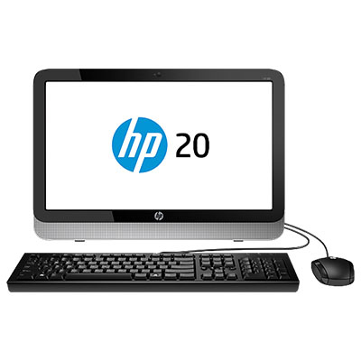 "HP 20-2201ns 1.35GHz E1-6010 19.45"" 1366 x 768Pixel Nero, Argento PC All-in-one"