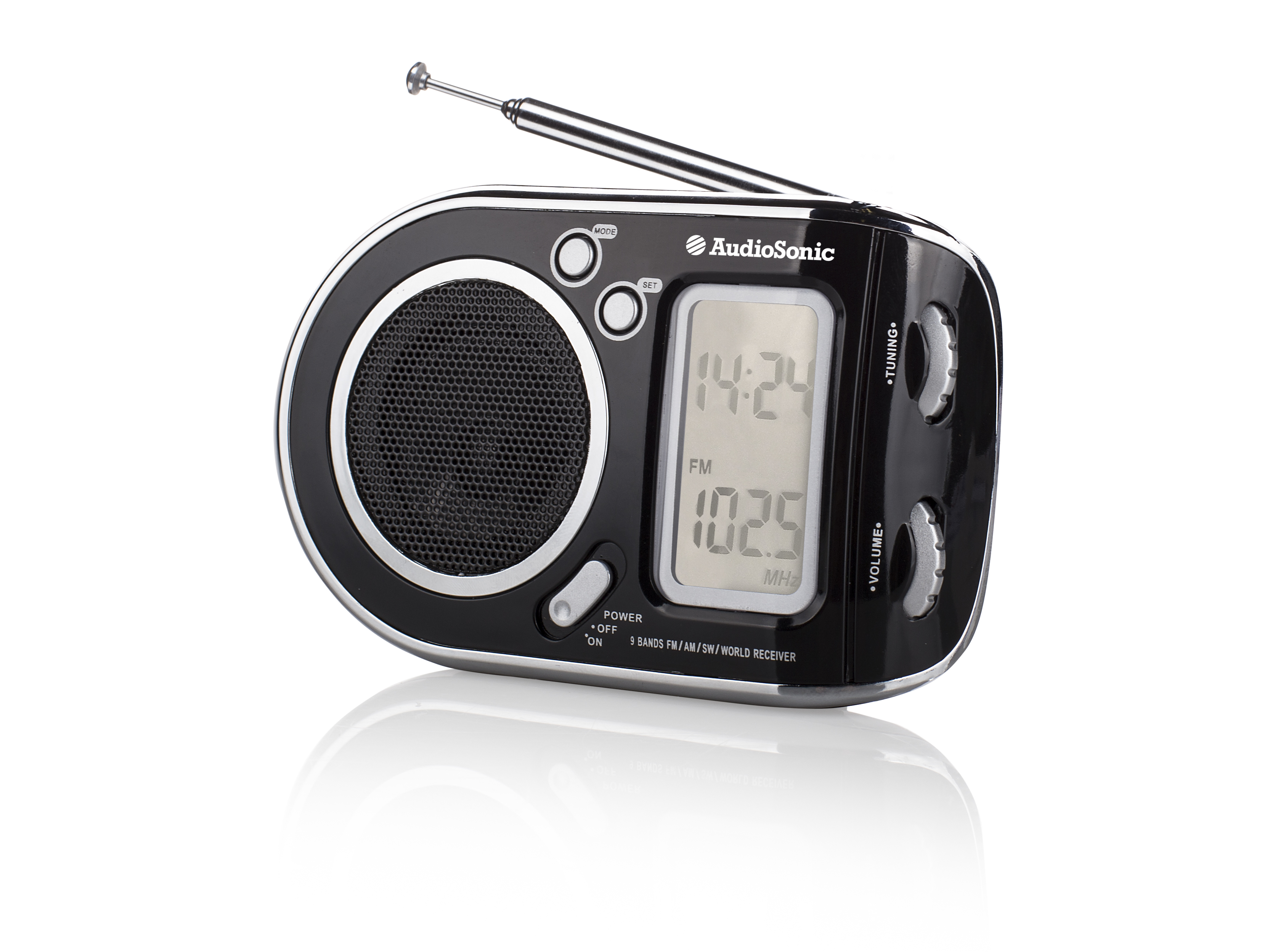AudioSonic RD-1519 Orologio Analogico Nero radio