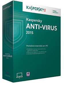 Kaspersky Lab Anti-Virus 2015, 3u, 2Y, Base Base license 3utente(i) 2anno/i