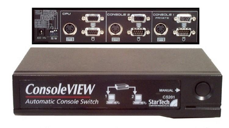 Newstar PC Splitter, AT/Serial Nero switch per keyboard-video-mouse (kvm)