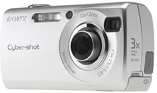 """Sony Cyber-shot DSC-S40 Fotocamera compatta 4.1MP 1/2.7"""" CCD Argento compact camera"""