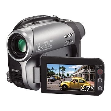 Sony DVD Handycam DCR-DVD202E 1.07MP CCD Argento