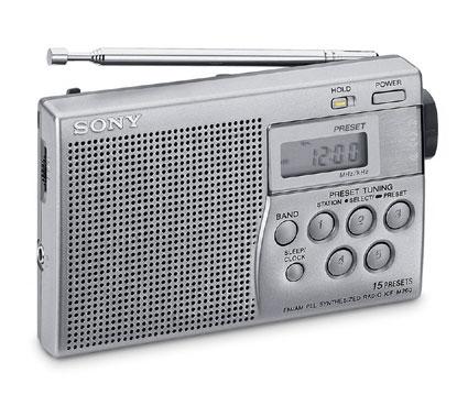 Sony ICFM260S Portatile Digitale Grigio radio