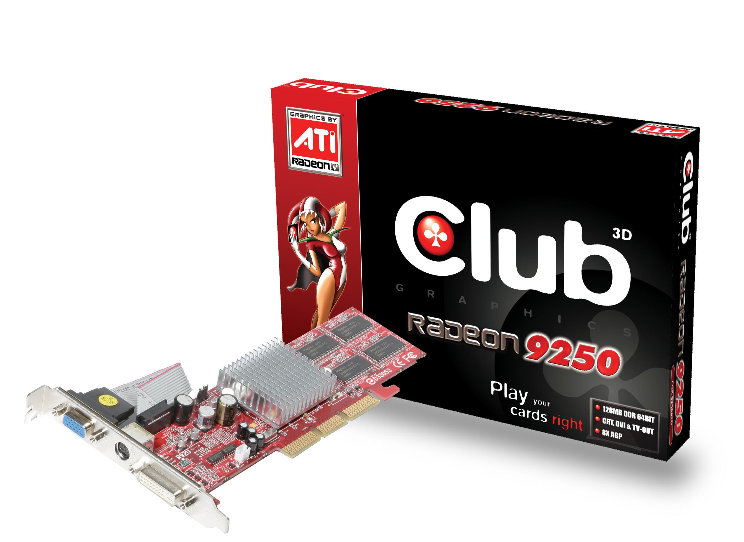 CLUB3D Club 3D 9250 128Mb AGP GDDR