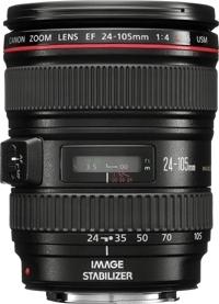 Canon EF 24-105mm f/4L IS USM SLR Standard zoom lens Nero