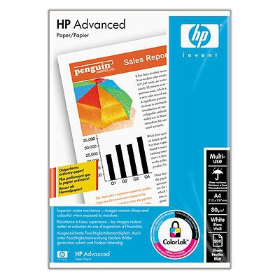 HP Advanced Paper 80 g/m²-A4/210 x 297 mm/500 sht carta inkjet
