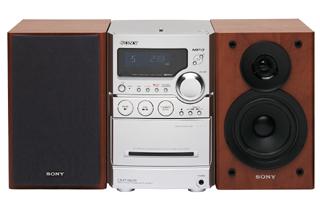 Sony Compact Micro System CMT-NEZ5 Argento, Legno