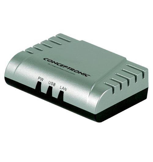 Conceptronic USB 2.0 Print Server LAN Ethernet server di stampa