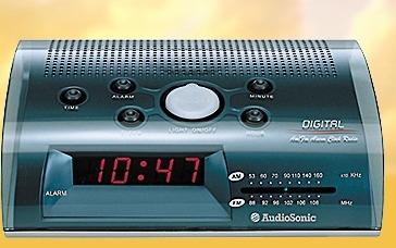 AudioSonic CL 444 Orologio Grigio radio