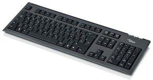 Fujitsu KB400, US USB QWERTY Inglese US Nero tastiera