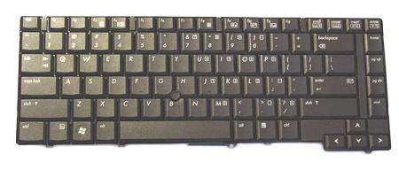 HP 495042-031 QWERTY Inglese Nero tastiera