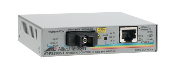 Allied Telesis AT-FS238B/1-60 100Mbit/s 1550nm convertitore multimediale di rete