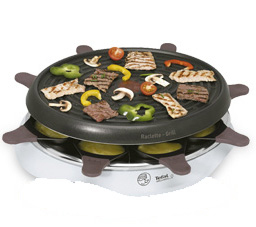 Tefal Gourmet Simply Invents 8 1050W Nero, Grigio griglia per raclette