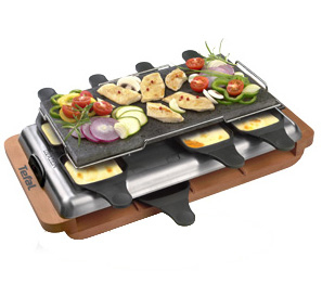 Tefal Raclette-Grill Ovation 1100W Nero, Argento griglia per raclette
