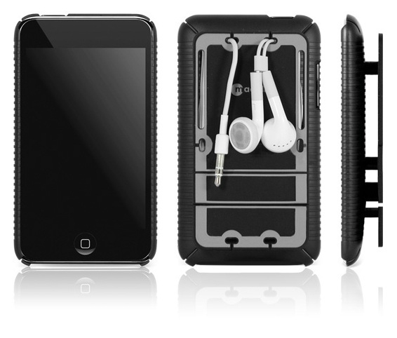 Macally Snap-on cover (iPod® touch 2G) Nero