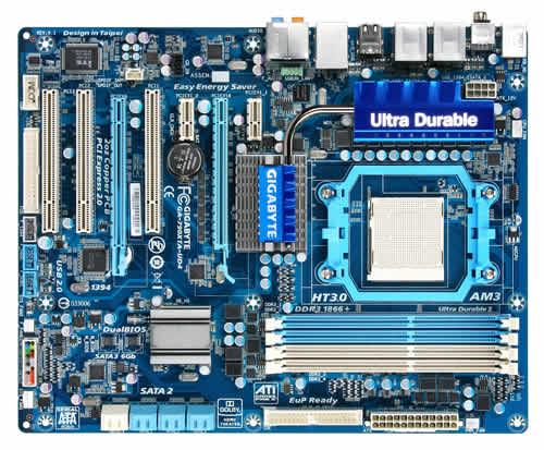 Gigabyte GA-790XTA-UD4 AMD 790X Presa elettrica AM3 ATX scheda madre